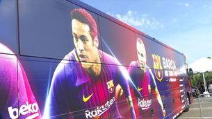 Neymar, centre d'atenció en el primer dia del Barça als EUA