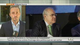 Llarena renuncia a l'extradició de Puigdemont