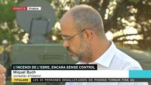"""Miquel Buch: """"L'estratègia de Bombers ha donat resultats, però avui és el dia més crític"""""""