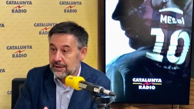"""Bartomeu: """"No tinc cap dubte que Leo Messi continuarà aquí"""""""