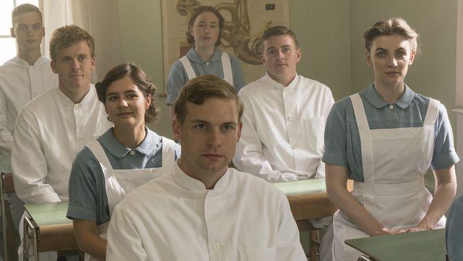 """Alguns dels protagonistes de la sèrie """"Escola d'infermeria"""""""