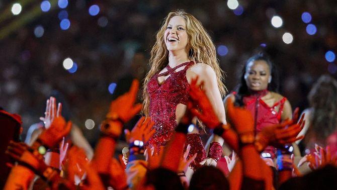 Shakira en un concert el febrer del 2020 (Europa Press/Al Diaz)