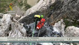 Un escalador de Barcelona mor en una accident mentre pujava al pic Tromosa, a Bielsa