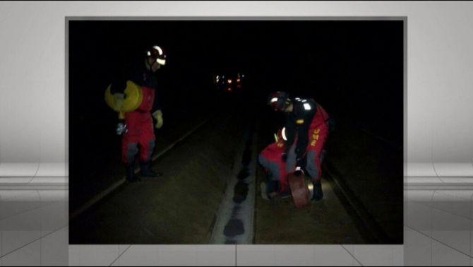 Fracassa el primer intent dels militars per extreure aigua del túnel de l'AVE a Girona