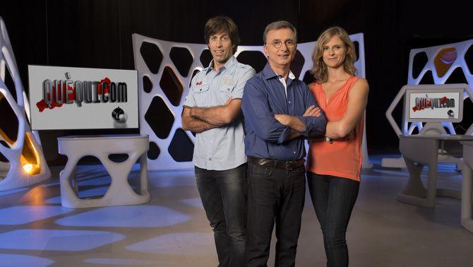Jaume Vilalta amb Pere Renom i Georgina Pujol.
