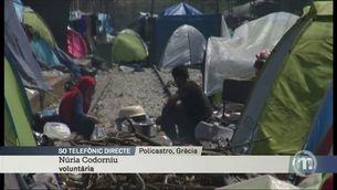 Dos voluntaris catalans, testimonis dels desmantellament d'Idomeni