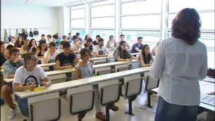 Alumnes en una classe