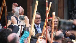 Artur Mas entrant a declarar al TSJC