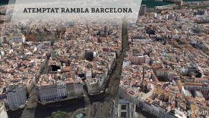 Recorregut de la furgoneta que ha atacat el centre de Barcelona