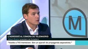 """Rivera: """"Vostès, a TV3, menteixen, són un aparell de propaganda independentista"""""""