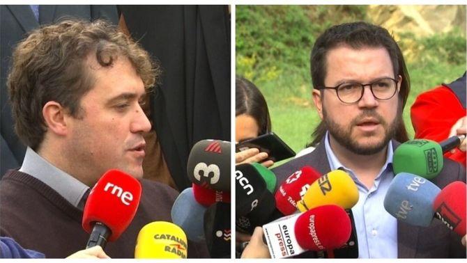 David Bonvehí, PDeCAT, i Pere Aragonès, ERC