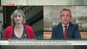 """Alba Vergés: """"És important fer pública la informació de les funeràries, és una qüestió de transparència"""""""