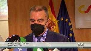 """José Manuel Franco, president CSD: """"Estem valorant que els espectadors tornin als estadis les dues últimes jornades"""""""