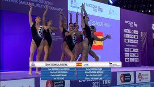 Espanya, segona a la rutina tècnica del preolímpic