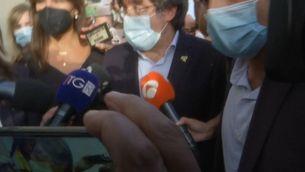Primeres paraules de l'expresident Carles Puigdemont a la sortida de la presó a Sardenya