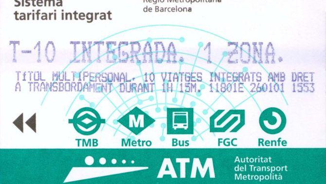 El govern vol crear la T-Mobilitat, una targeta personalitzada vàlida per a qualsevol desplaçament a l'àrea de Barcelona