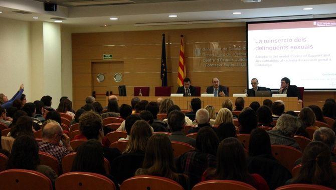 """La presentació pública del projecte """"Cercles"""", que s'ha fet aquest dimarts a Barcelona. (Foto: ACN)"""