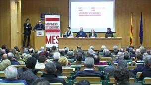 Imatge de la presentació en societat de Moviment d'Esquerres