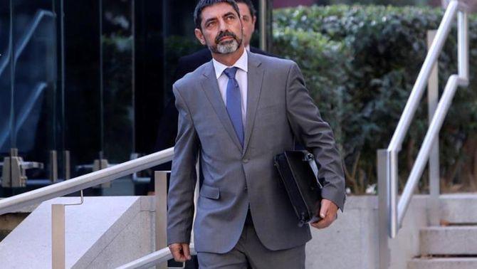 Josep Lluís Trapero després d'anar a a declarar davant l'Audiència Nacional en una imatge d'arxiu