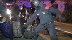 IRIDIA denuncia actuacions ahir dels Mossos durant les càrregues policials