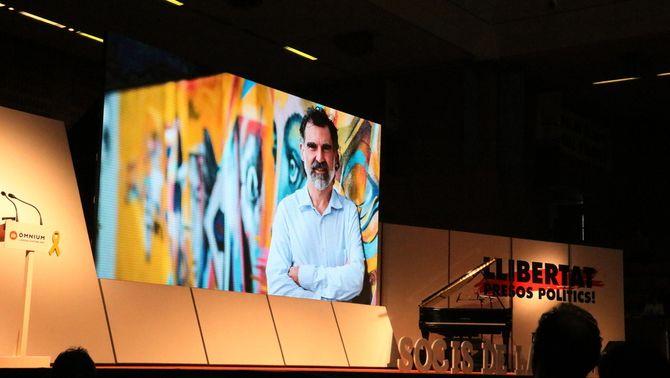 Jordi Cuixart en un vídeo a l'assemblea d'Òmnium