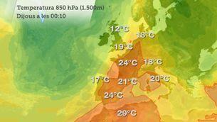 La calor arribar al mar del Nord