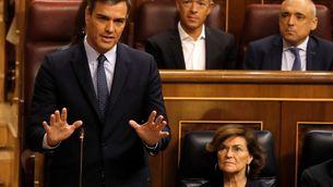 Falta de sentit d'estat, irresponsabilitat i dogmatisme: Sánchez reparteix culpes