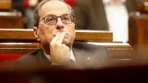 El president Quim Torra en una sessió al Parlament de Catalunya