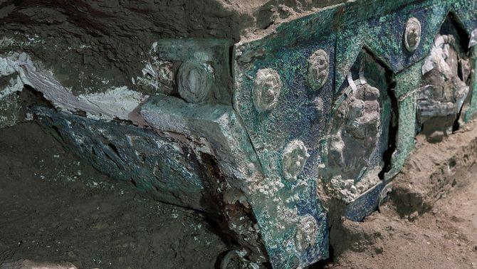 Descoberta a Pompeia una carrossa cerimonial molt ben conservada