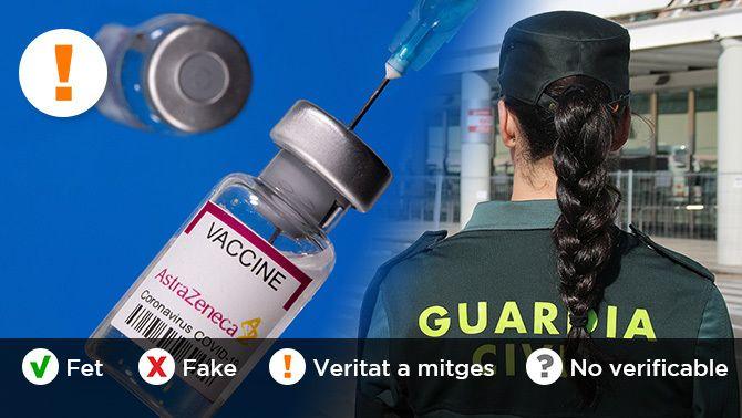 És veritat que la Generalitat no està vacunant policies i guàrdies civils?