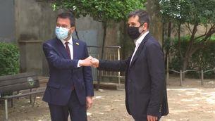 Aragonès i Sànchez expliquen els detalls del preacord de govern
