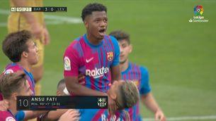Retorn i gol d'Ansu Fati en el Barça - Llevant (3-0)