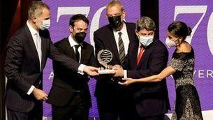 Els reis lliuren el premi a Agustín Martínez, Jorge Díaz i AntonioMercero