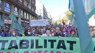 Poc seguiment de la vaga del sector públic contra el decret per regular l'interinatge