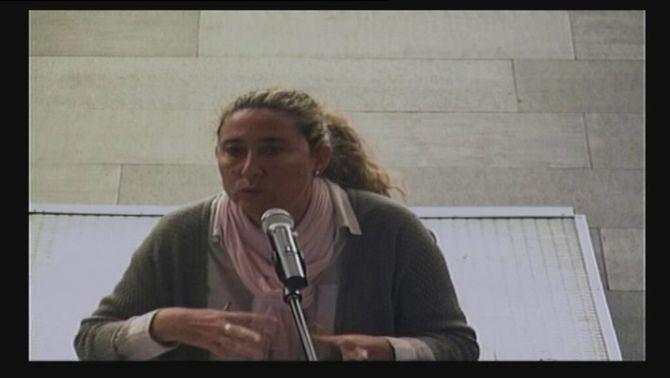 Gemma Montull, acusada al cas Palau, durant la declaració aquest dimecres a la Ciutat de la Justícia