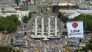Acte pel referèndum a Barcelona