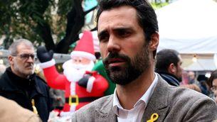 Roger Torrent, durant un acte de campanya del 21D a Sant Boi de Llobregat (ACN)