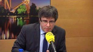 """Carles Puigdemont a Catalunya Ràdio: """"Entre ser president i ser presidiari prefereixo ser president """""""