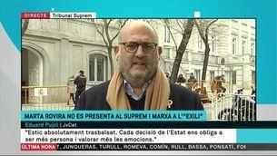 """Eduard Pujol: """"La interlocutòria del jutge és terrible"""""""