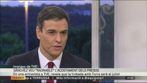 Pedro Sánchez preveu reunir-se amb el president de la Generalitat, Quim Torra, al juliol