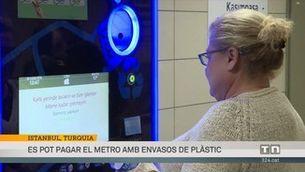 Es pot pagar el metro amb envasos de plàstic