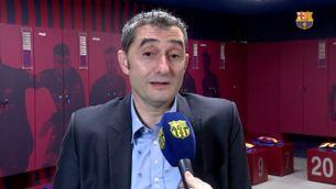 """Valverde: """"Em reconforta que el club vulgui donar continuïtat al projecte"""""""