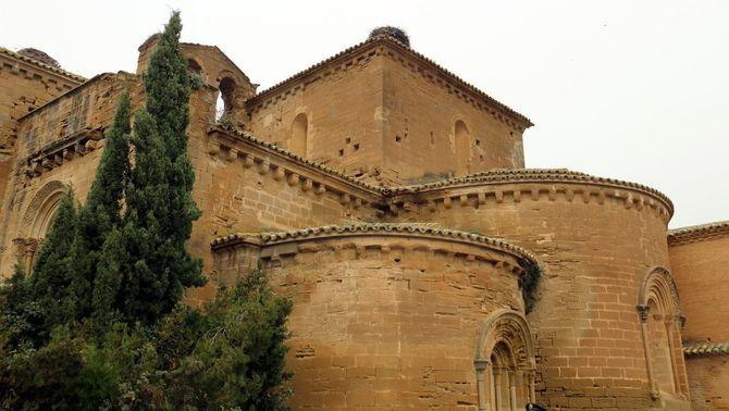 Exterior del monestir de Sixena (ACN / Laura Cortés)