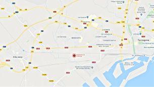 Googlemaps sobre la Canonja