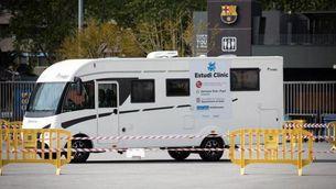 El Camp Nou, punt de recollida de mostres de l'estudi dels doctors Oriol Mitjà i Bonaventura Clotet