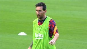 """Messi: """"Em sento bé, més tranquil i amb ganes de lluitar pels títols que tenim davant"""""""