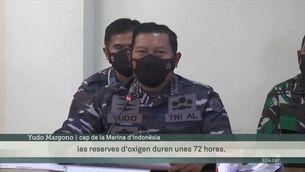 Indonèsia busca un submarí desaparegut amb 53 persones a bord i reserves d'oxigen fins dissabte