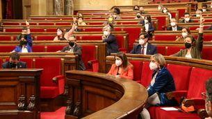 Sessió al Parlament de Catalunya durant la passada legislatura