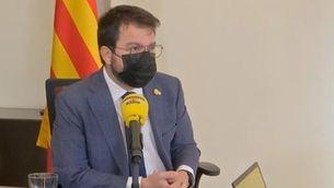 El president Pere Aragonès a El Matí de Catalunya Ràdio