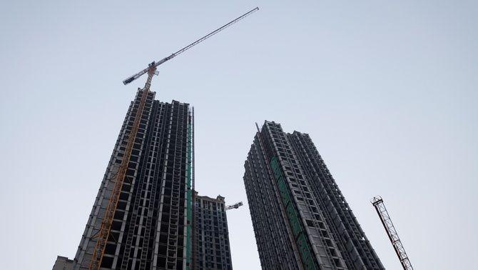 Un edifici en construcció